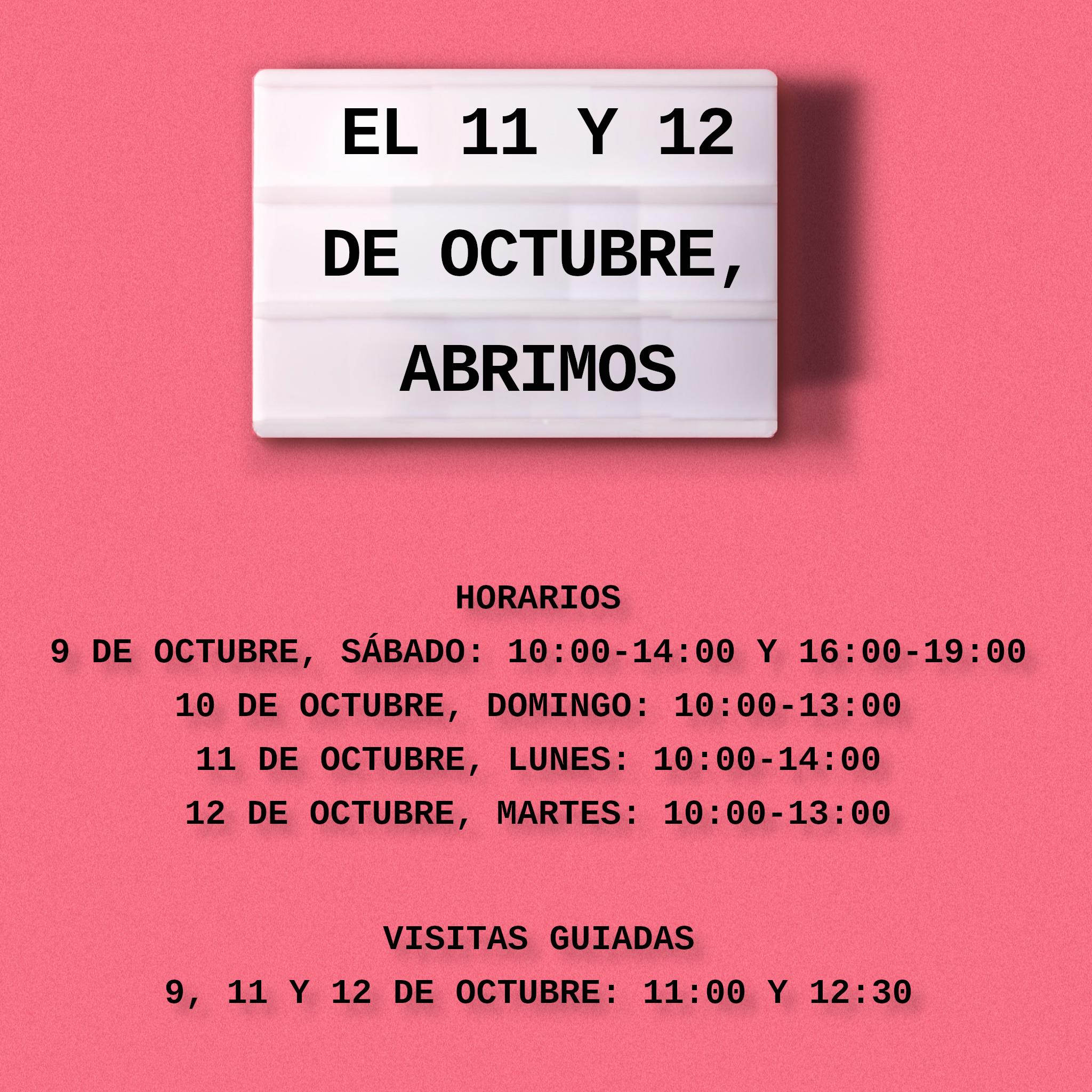 Horarios apertura puente de octubre