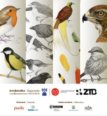 Cartel del taller Uniendo Arte y Ciencia en Bergara V edición